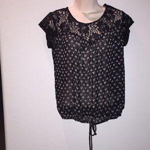 Black blouse, size S.